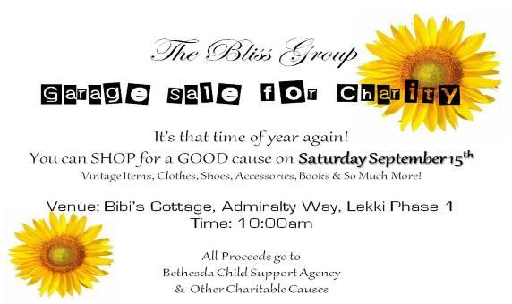 The Bliss Group Presents: Garage Sale for Charity