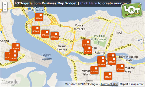 LGTNigeria.com Embedded Business Map Widget