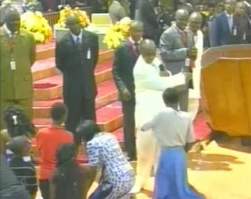 Outrage as Nigerian Pastor David Oyedepo Assaults Teenage Girl on Live TV
