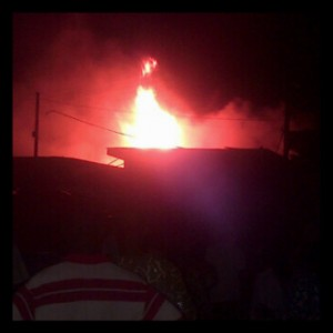 Popular Alade Market Razed by Fire